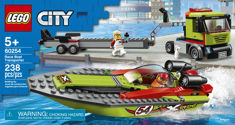 LEGO City Great Vehicles Race Boat Transporter 60254
