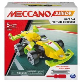 Meccano Junior, Kit de construction STEAM, Voiture de course