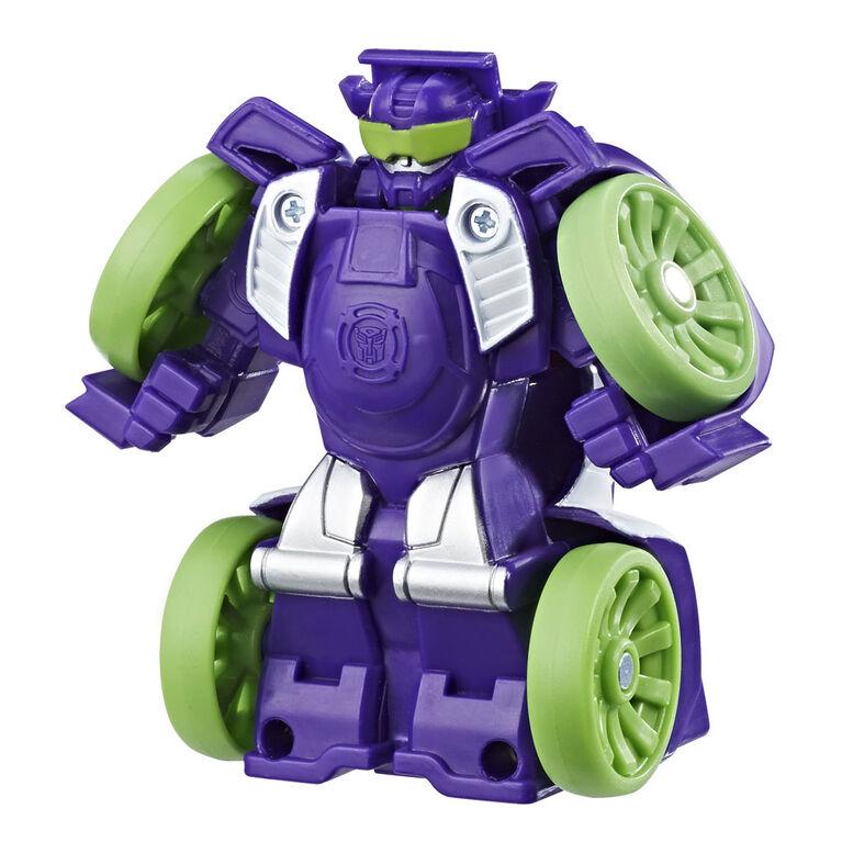 Playskool Heroes Transformers Rescue Bots Flip Racers Blurr Reverse Raceway