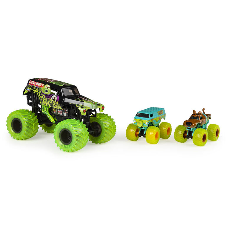Monster Jam, Curse of the Gasoline 3-Pack of Official Exclusive Monster Jam Die-Cast Trucks - R Exclusive