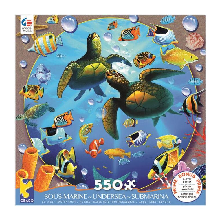 Ceaco Undersea 550-Piece Puzzle Honu Paradise