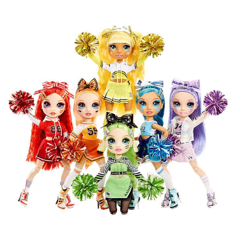 Rainbow High Cheer Poppy Rowan - Orange Fashion Doll with Pom Poms