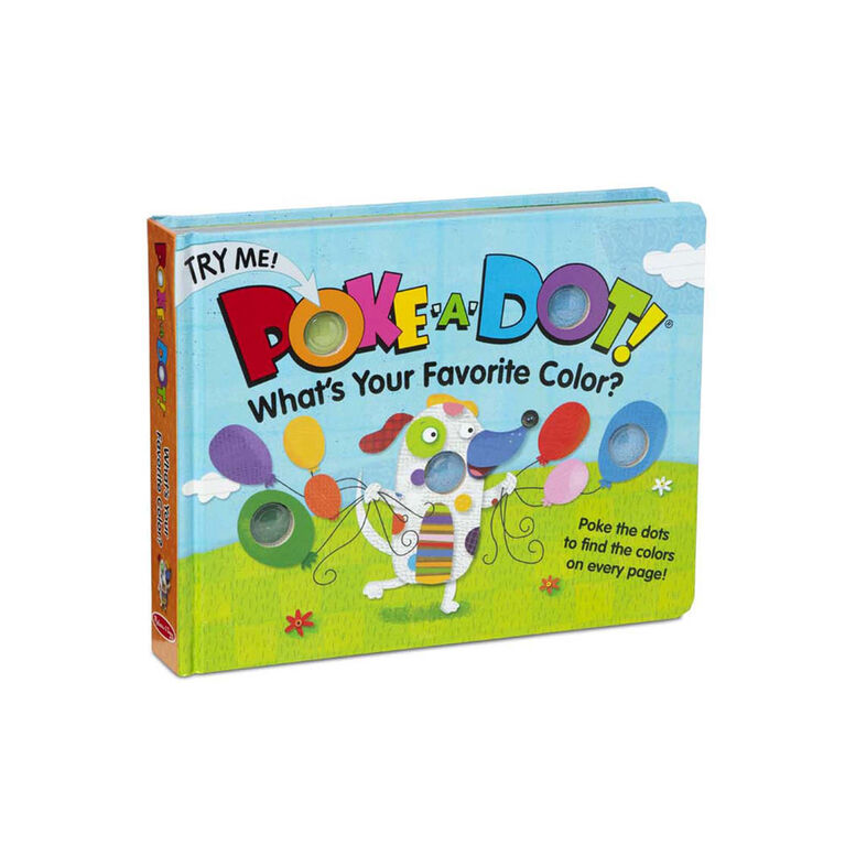 Melissa & Doug Children's Book - Poke-a-Dot: What's Your Favorite Color - English Edition