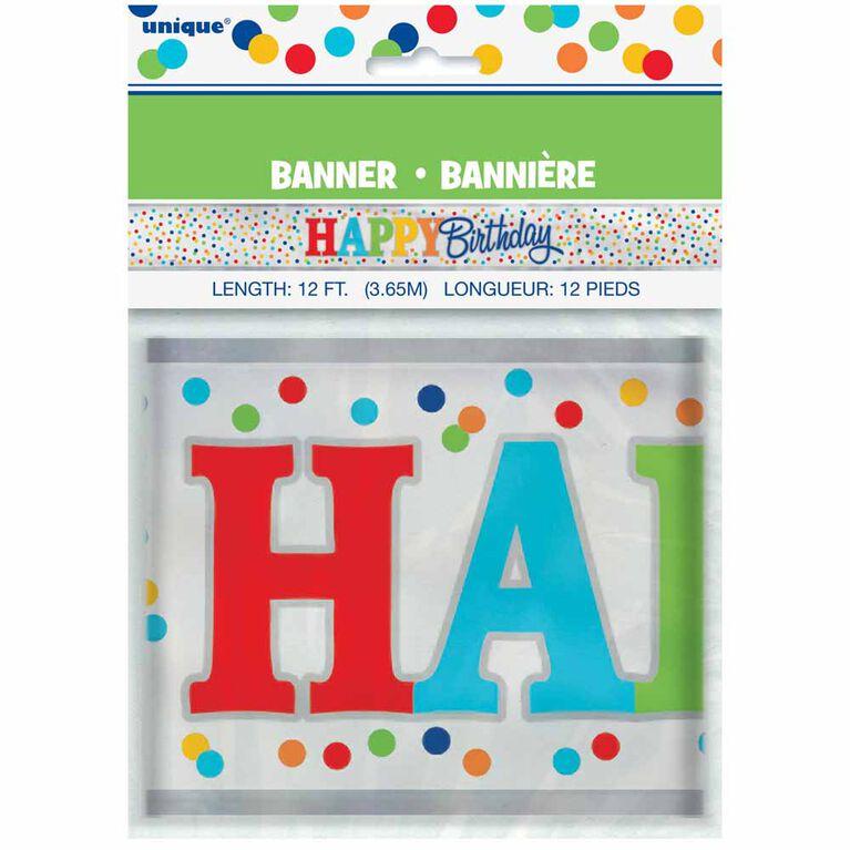 Rainbow Polka Dots Banniere, 12pi - Édition anglaise
