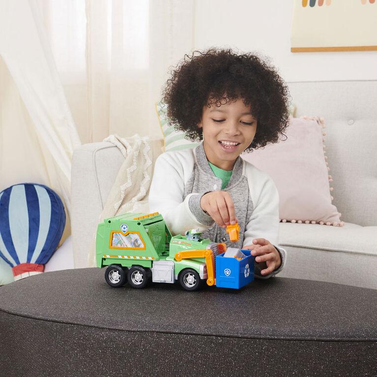 PAW Patrol, Reuse It Deluxe Truck de Rocky avec figurine à collectionner et 3 outils