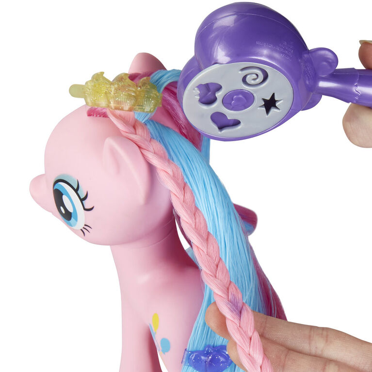 My Little Pony Magical Salon Pinkie Pie Toy - 6-Inch Hair Styling Fashion Pony - R Exclusive