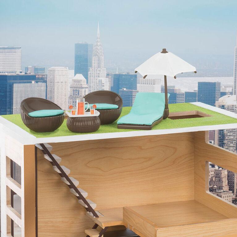 Mobilier pour poupée 15cm, Ensemble patio pour le toit, Lori