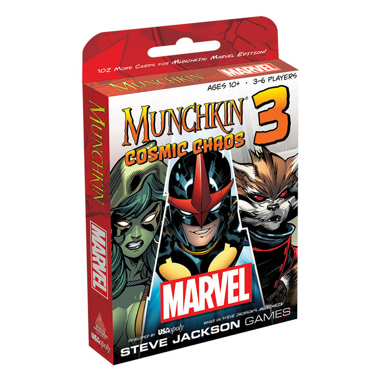 Munchkin Marvel 3 Game: Cosmic Chaos