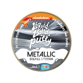 Nickelodeon Liquid Lava Putty Metallic Metals Silver StreamR Exclusive - R Exclusive