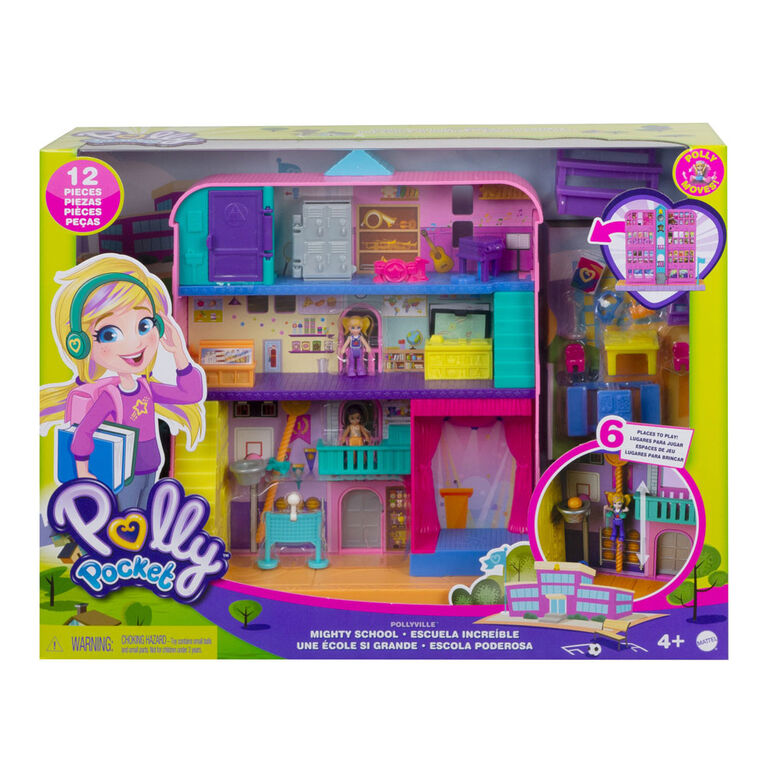 Polly Pocket-École Pollyville de Polly Pocket avec 2 Mini-Poupées
