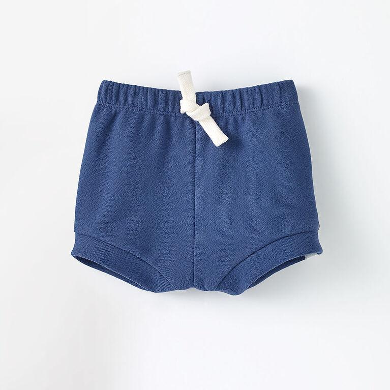 3-6m short bouffant en tricot - bleu foncé