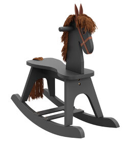 Storkcraft Wooden Rocking Horse - Gray