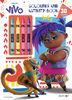VIVO Coloring & Activity Book with Crayons - English Edition