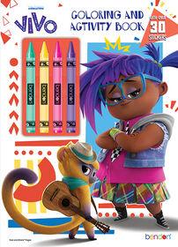 Livre de coloriage et d'activités avec crayons de cire — VIVO