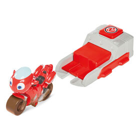 Ricky Zoom Launch & Go Playset featuring an Exclusive Ricky Zoom Action Figure - Free Standing Toy Bike and Speed Launcher for Preschool Play - R Exclusive