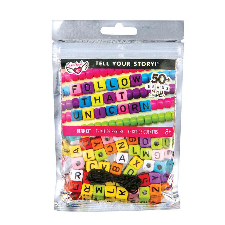 Fashion Angels - Tell Your Story Alphabet Bead Bag - LG Rainbow Cubes