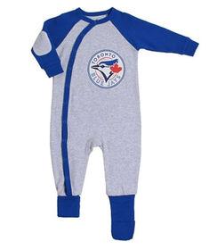 Snugabye Toronto Blue Jays Grey Infant Sleeper 24 Months