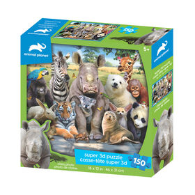 Animal Planet - Class Photo – 150 Piece 3D Puzzle - R Exclusive