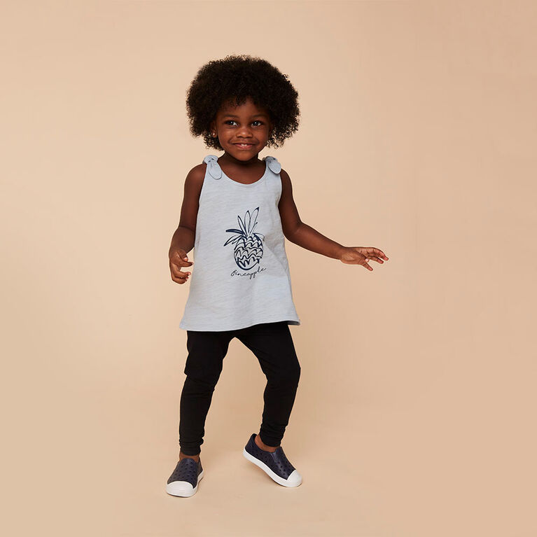 organic play legging, 12-18m - black