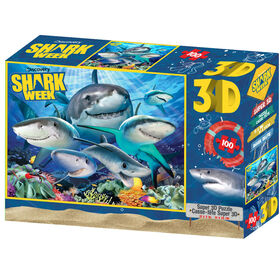 Shark Week - Shark Selfie - 100 Piece 3D Puzzle