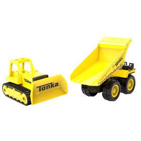 Tonka Metal Movers - Camion à benne basculante et bulldozer
