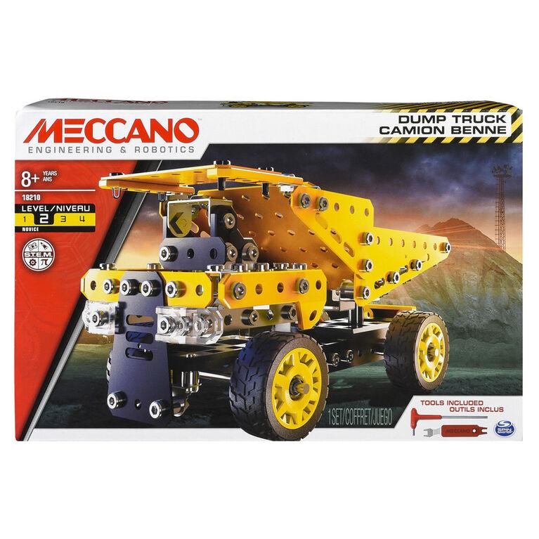 Meccano - Dump Truck Model Vehicle Building Kit, STEM Construction Education Toy