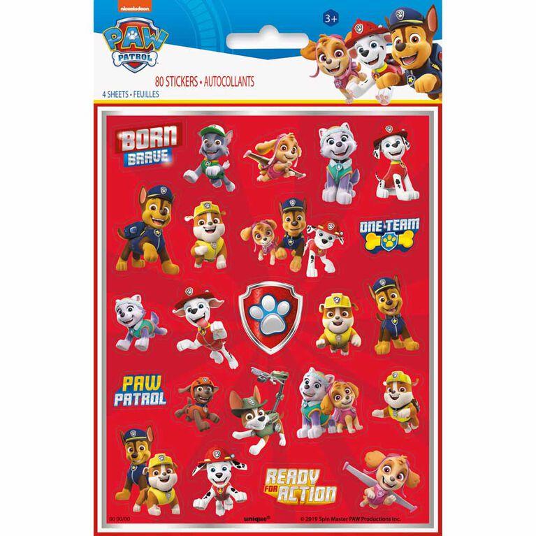 Paw Patrol Sticker Sheets, 4 pieces