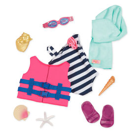 Our Generation, Fun Day Sun Day, Beach Outfit for 18-inch Dolls