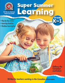 Super Summer Learning Grade K to 1 Workbook
