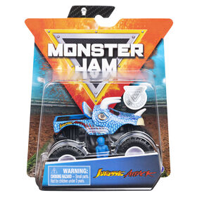 Monster Jam, Official Jurassic Attack Monster Truck, Die-Cast Vehicle, Crazy Creatures Series, 1:64 Scale