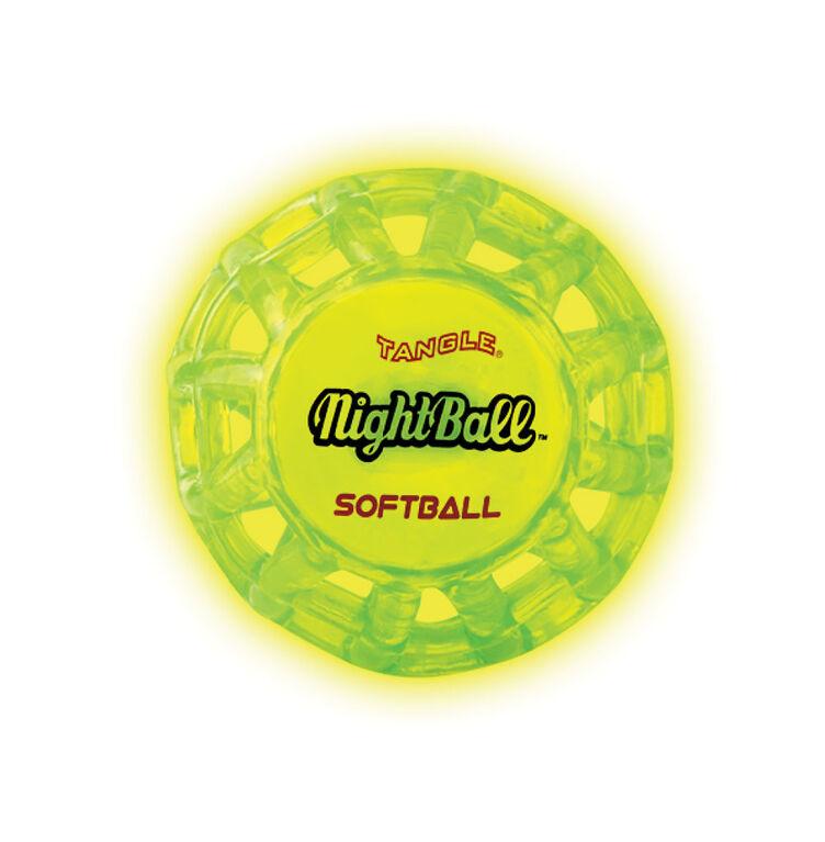 La nuit avec la balle molle NightBall de Tangle petite