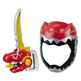 Playskool Heroes Power Rangers Zord Saber, Red Ranger Roleplay Mask with Sword Accessory, Dino Charge