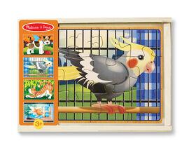 Melissa & Doug - 4 puzzles en bois - Animaux Domestiques