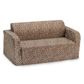 Comfy Kids Flip Sofa - Cheetah