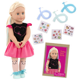 """Our Generation, Luana """"Ready To Glow"""", 18-inch Deco Doll with Glow-in-the-Dark Tattoos"""