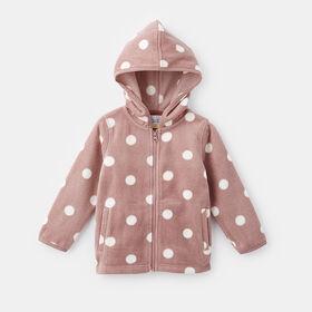 microfleece zip up jacket , size 4-5y - Pink