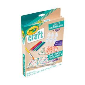 Sous-verre et assiette confetti Crayola