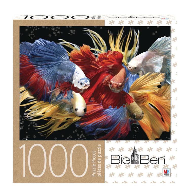 Big Ben - 1000-Piece Adult Jigsaw Puzzle - Fighting Fish