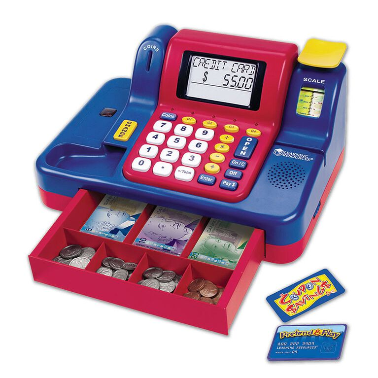 Learning Resources - Teaching Cash Register - English Edition - styles may vary