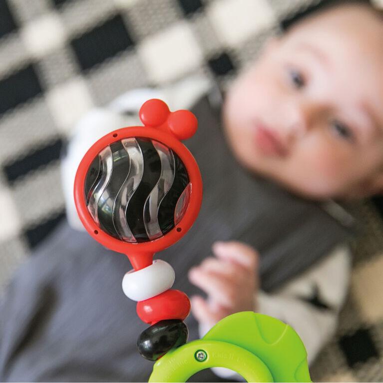 Baby Einstein Bright Bold Rattle & Teether High Contrast Toy