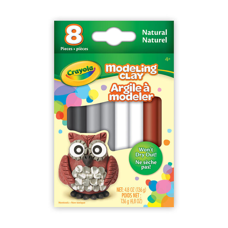 Modeling Clay, 8 count Natural