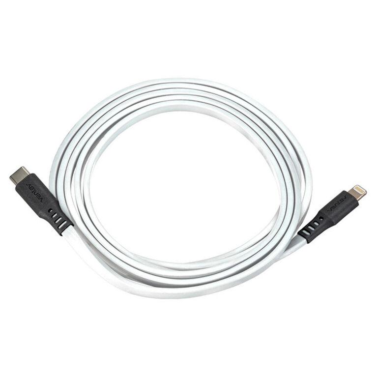 Ventev Câble de Charge/Sync Flat USB-C vers Lightning 6ft Blanc