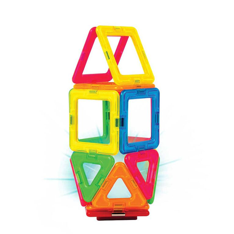 Magformers Neon 26 Piece with Bonus Light Set