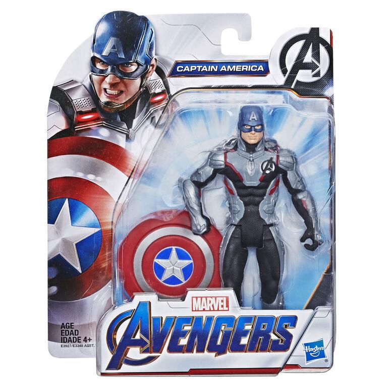 Marvel Avengers: Endgame Team Suit Captain America 6-Inch-Scale Figure