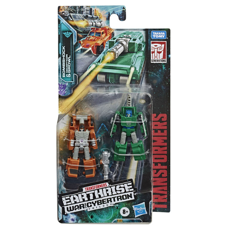 Transformers Generations War for Cybertron : Earthrise, 2 figurines Micromaster Patrouille militaire WFC-E4