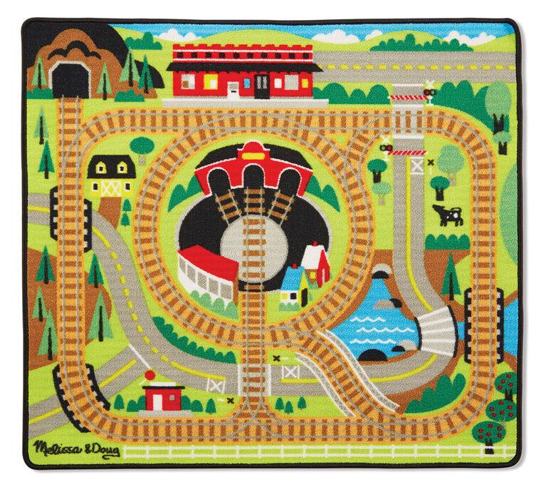 Melissa & Doug Around the Rails Train Rug - styles may vary