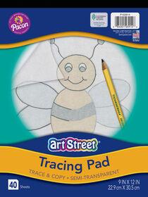 "Art Street Tracing Paper Pad, Translucent, 9"" x 12"", 40 Sheets - English Edition"