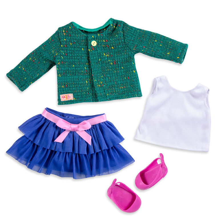 Our Generation, Bright And Brisk, Ruffle Skirt & Sweater Outfit for 18-inch Dolls