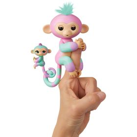 Fingerlings Baby Monkey & Mini BFFs - Ashley & Chance (Pink-Turquoise)