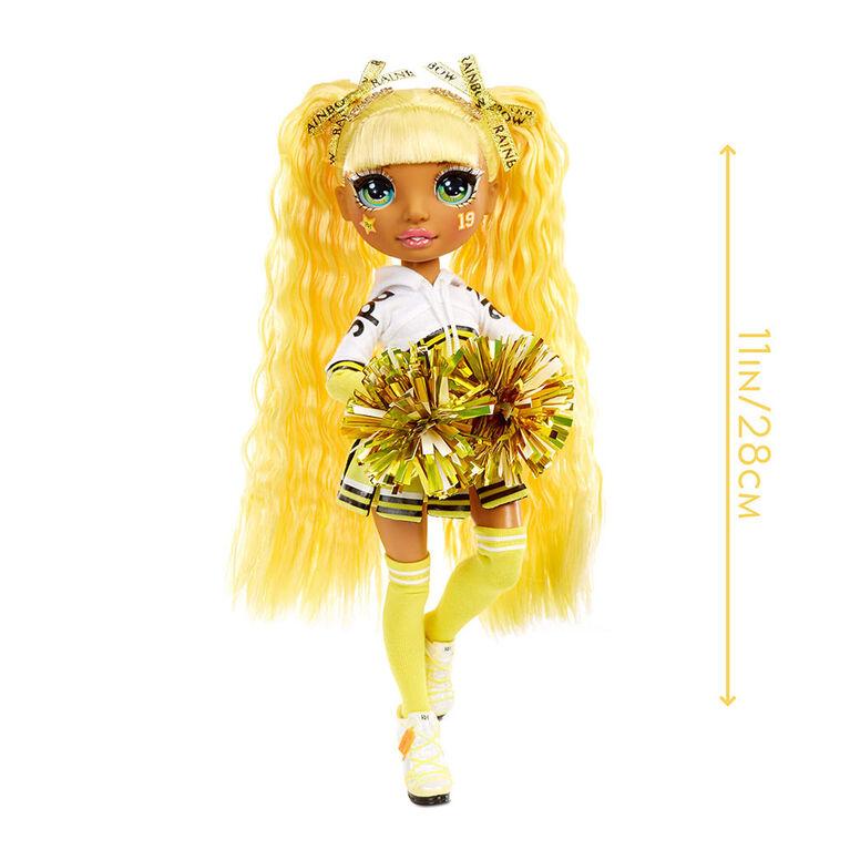 Rainbow High Cheer Sunny Madison - Yellow Fashion Doll with Pom Poms